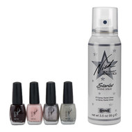 Starlet Shine Spray and 4pc Nail Polish Kit