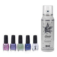 Starlet Shine Spray and 5pc Nail Polish Kit