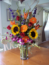 Tall Colorful Belvedere Garden Vase