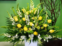 Yellow And White Premium Basket