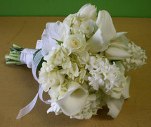 White Prom Bouquet
