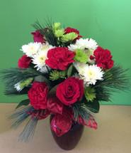Traditional Christmas Vase