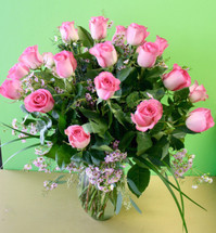 Priceless Pink Roses (Two Dozen)