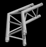 Global Truss TR-4089O, 1.64ft. (0.5m) 120 Degree Corner Apex Out TR-4089O
