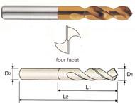 YG1 USA EDP # 0221JCN HSS-EX HPD-SUS TWIST DRILL TiN-COATED (STUB) 2.2 x 13 x 45