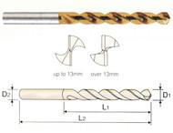 YG1 USA EDP # 0251KCN HSS-EX HPD-SUS TWIST DRILL TiN-COATED (JOBBERS) 2.5 x 30 x 62