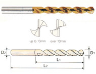 YG1 USA EDP # 0261KCN HSS-EX HPD-SUS TWIST DRILL TiN-COATED (JOBBERS) 2.6 x 30 x 62