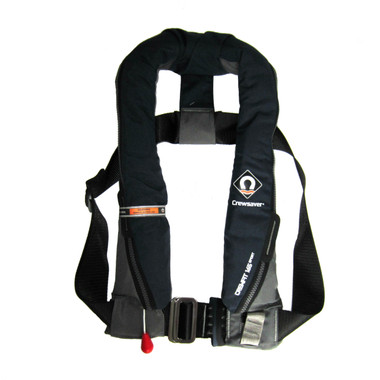 Designed with a Peninsular Chin support, to keep your airway well clear of the water whatever the conditions | Harness Loop | Attachment point for Crewsaver Surface Light | Robust outer cover for durability | UML MK5 Automatic | Centre metal buckle adjuster | Oral Tube | Whistle | Reflective tape | Lifting becket