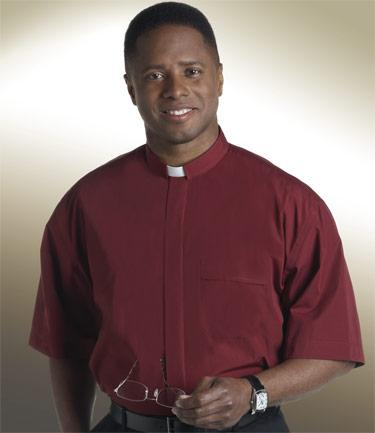 Men's Short-Sleeve Tab Collar Clergy Shirt