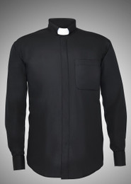 Men's Long-Sleeve Tab-Collar Clergy Shirts - 6 COLORS