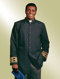 Men's Clergy Jacket H-95 - Black