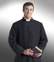 Men's Double-Breast Anglican Cassock H-96 - Black