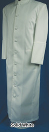 Men's Clergy Cassock/Robe - Solid White