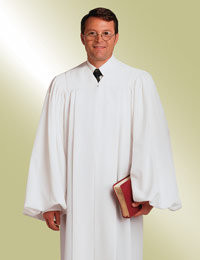 Male and Female Pulpit Robe - Solid White