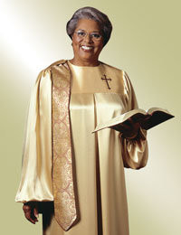 Women's Clergy Robe Evangelist H-65 - Gold/Maroon