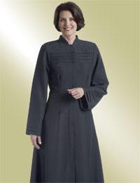 Women's Clergy Robe Judith H-202 - Black Flared