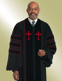 Murphy Men's Robe Dr. of Divinity H-123 - Black/Red