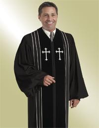 Murphy Men's Robe Bishop H-8 - Black/White