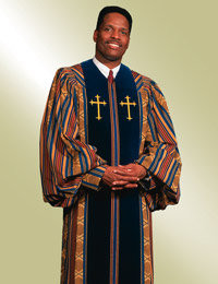 Murphy Men's Robe Heritage H-37 - Woven Kente/Gold