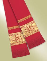 Pulpit / Clergy Stole 13094 - Red/Gold
