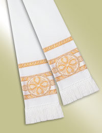 Pulpit / Clergy Stole 13095 - White/Gold