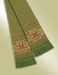 Pulpit / Clergy Stole 13097 - Green/Gold