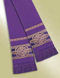 Pulpit / Clergy Stole 13108 - Purple/Gold