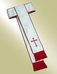 Men's Band Cincture H-64 - White/Scarlet