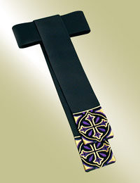 Men's Band Cincture H-46 - Black/Purple & Gold