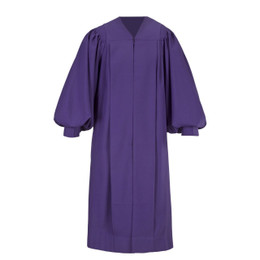 Purple Men's & Women's Clergy Pulpit Robe