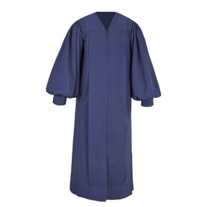 Navy Blue Men's & Women's Clergy Pulpit Robe