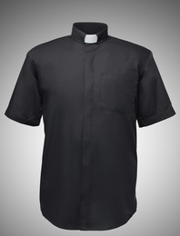 Men's Short-Sleeve Tab-Collar Clergy Shirts - 7 COLORS