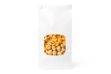 Our 4 cups of gourmet popcorn in a bakery style bag with window is the perfect popcorn favor for your event!  Da'Mix is the standard flavor. We can customize any way you'd like for you and your guests.... Please let us know