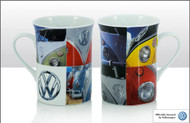 VW Bone China Mug - Campervan Squares (70278)
