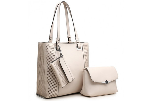 Bessie London 3in1 Bag (BH2891) in Beige