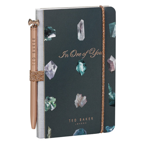 Ted Baker Linear Gem Mini Notebook & Pen (TED944)
