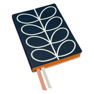 Orla Kiely Classic A5 Notebook - Navy Linear Stem (OK091)