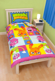 Brand New Moshi Monsters Rotary Single Bed Duvet Quilt Cover Set