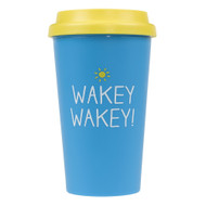 Wakey Wakey Travel Mug by Happy Jackson