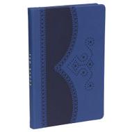 Ted Baker Blue Brogue A5 Notebook