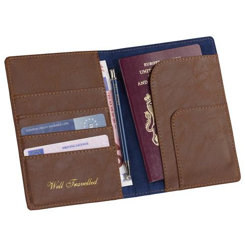 Ted Baker Brogue Travel Wallet & Pen
