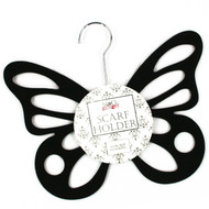 Black Flocked Butterfly Hanger