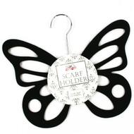 Black Flocked Butterfly Hanger