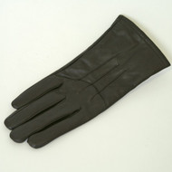 Brown Leather Strap Detail Gloves