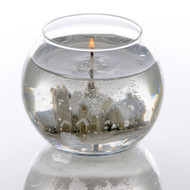 Stoneglow Winter Snowscene Bowl Candle