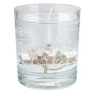 Stoneglow Winter Snowscene Tumbler Candle