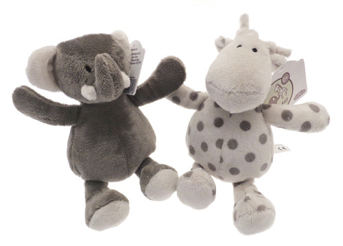 Grey Elli & Raff Super Soft Beanie Plush Toy