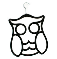 Flocked Owl Hanger - Black