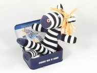 Sock Zebra in a Tin - Gift in a Tin (101251)