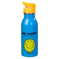 Mr Men Water Bottle - Mr Happy (MRM200)